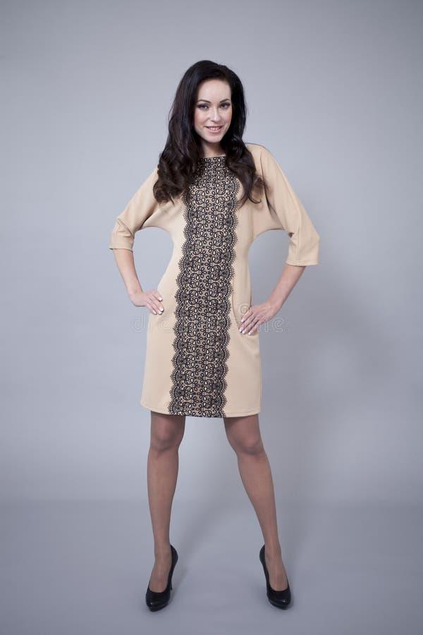 Download Härlig Modell I Modeklänning Fotografering för Bildbyråer - Bild av huvud, desire: 37346907