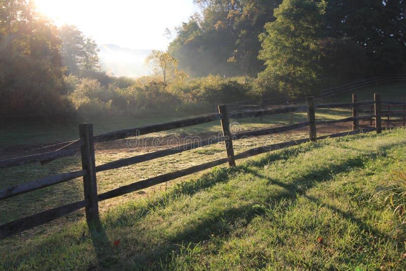 Härlig morgonhöst i Ohio royaltyfria foton