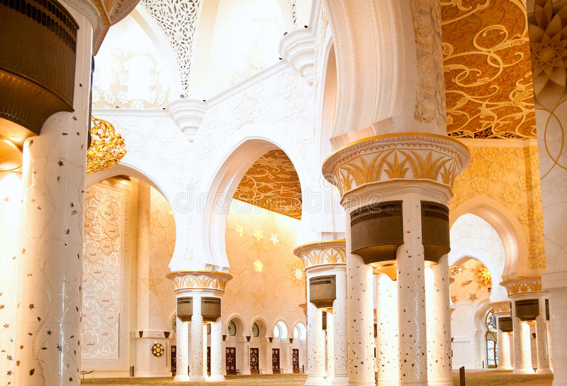 Härlig moské royaltyfri foto
