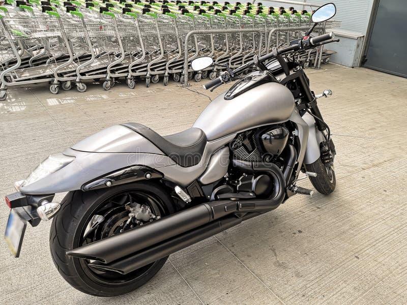 härlig motorcykel royaltyfri fotografi