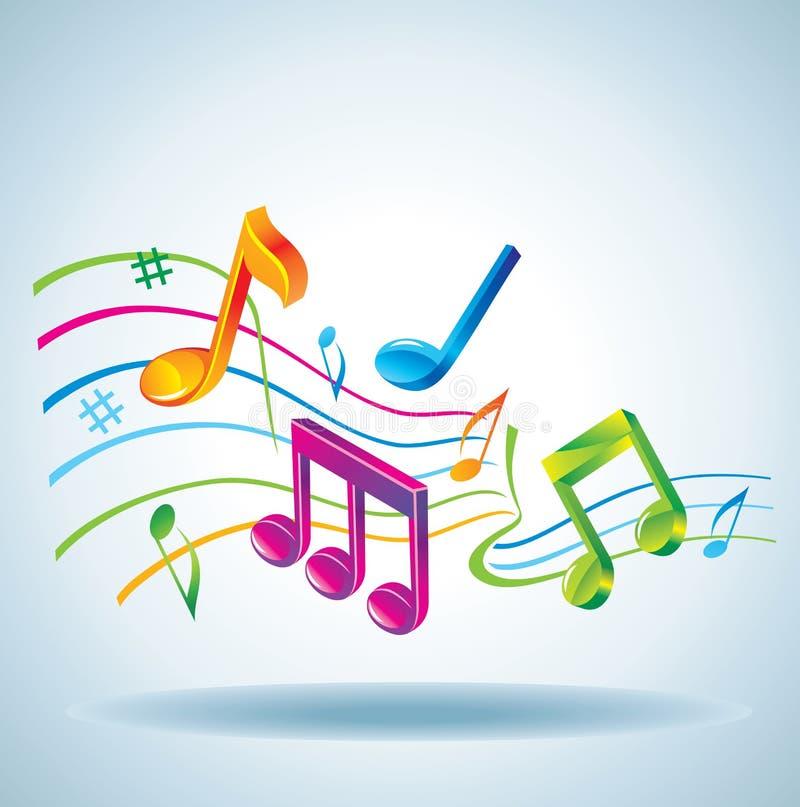 härlig musik för bakgrund stock illustrationer