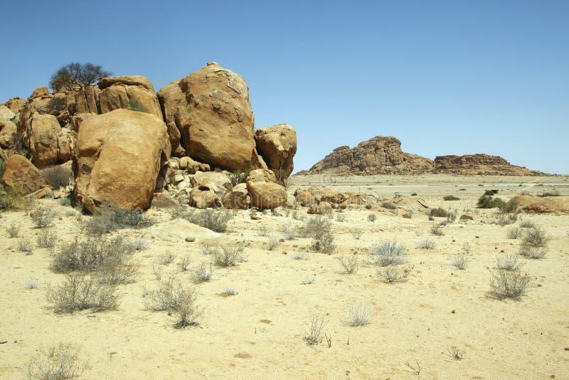 Härlig namibian öken arkivbilder