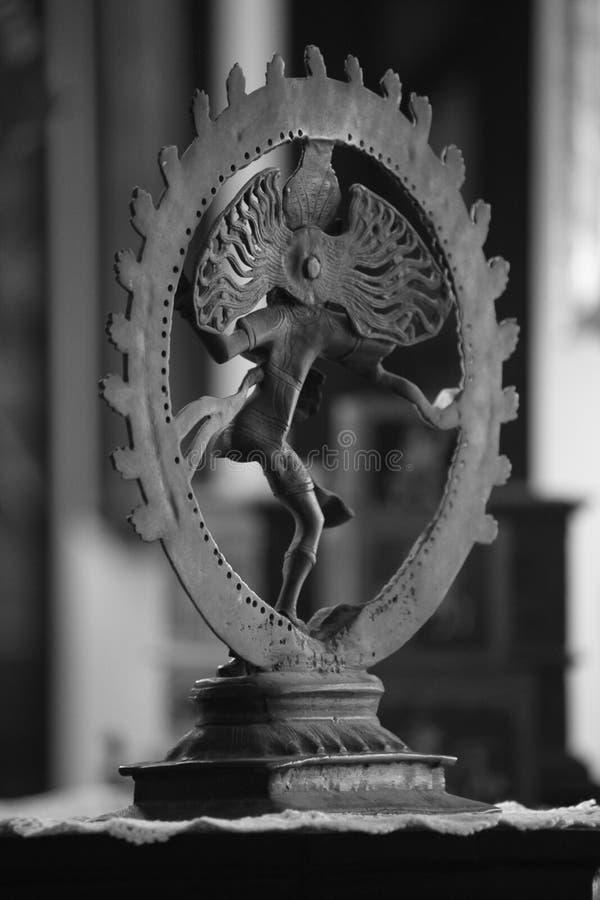 Härlig Natraj skulptur royaltyfria foton