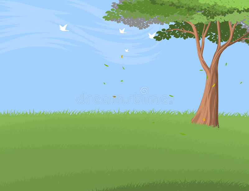 Härlig natur för vektor för landskap för skogträd stock illustrationer