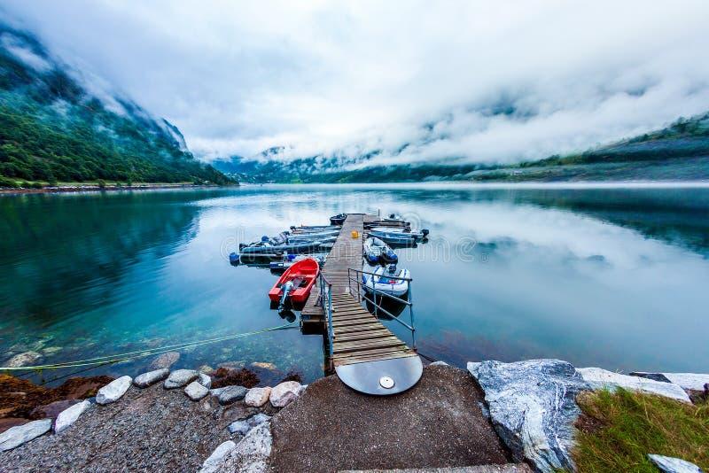 Härlig natur Norge arkivfoton