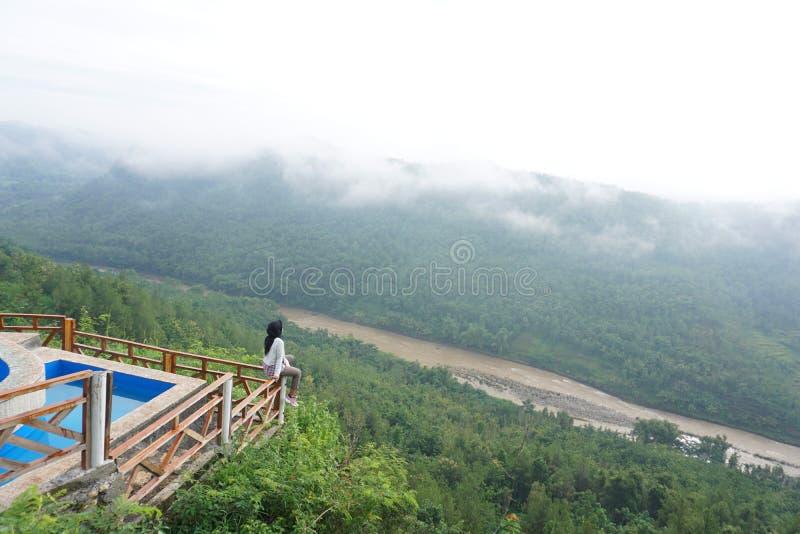 Härlig natur på Mangunan Bantul Yogyakarta Indonesien royaltyfri bild