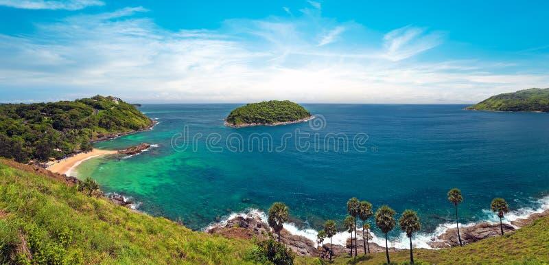 Härlig naturpanorama av Thailand, Phuket arkivfoton