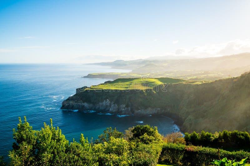 Härlig natursikt på Azores fotografering för bildbyråer