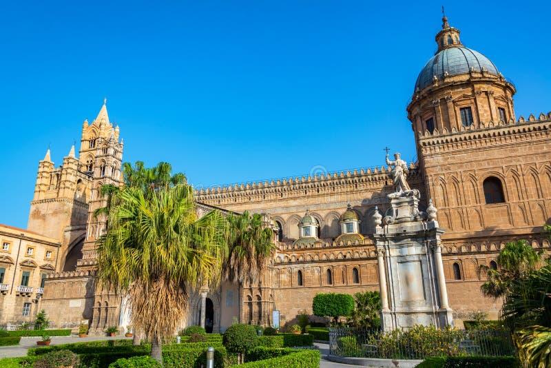 Härlig Palermo domkyrka fotografering för bildbyråer