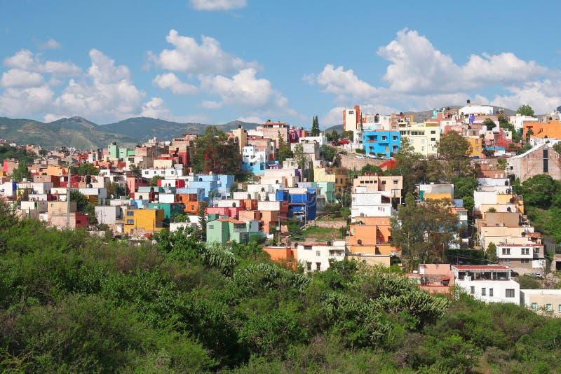 Härlig panorama av Guanajuato i Mexico arkivbild