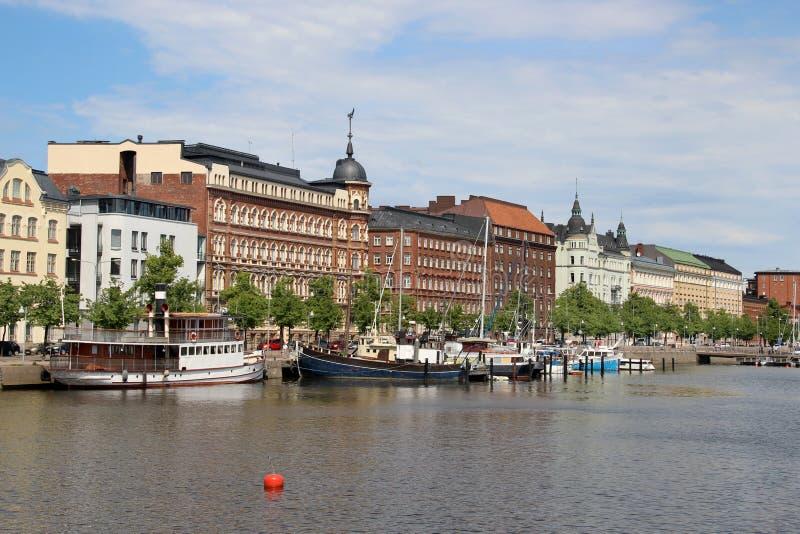 Härlig panorama av Helsingfors, Finland arkivfoto