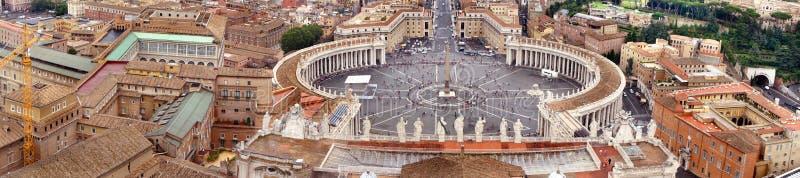 Härlig panorama av Vaticanen, Italien royaltyfria foton