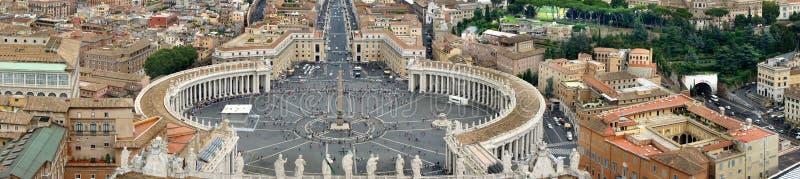 Härlig panorama av Vaticanen, Italien arkivbild