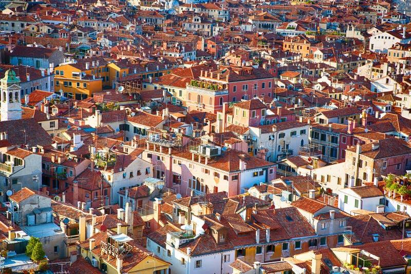 Härlig panorama- flyg- sikt av Venedig arkivfoton