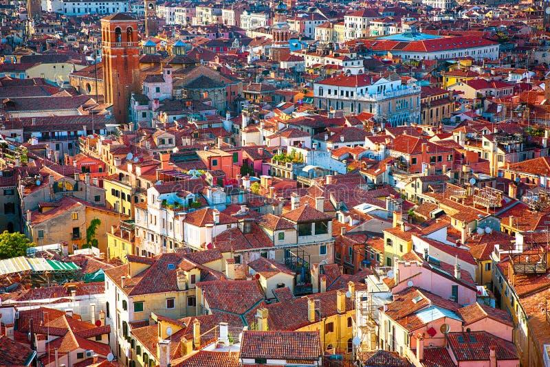 Härlig panorama- flyg- sikt av Venedig arkivbild