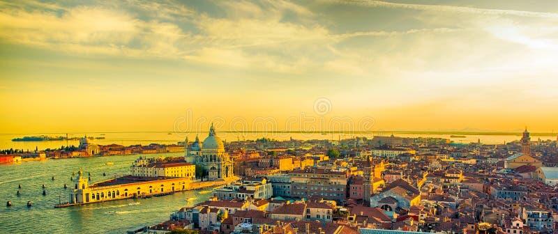 Härlig panorama- flyg- sikt av Venedig royaltyfri bild