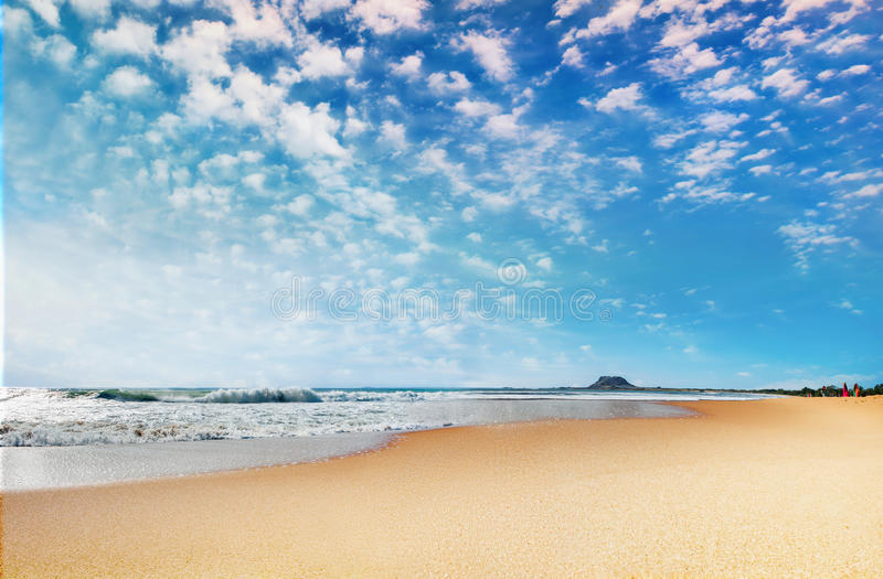 Härlig panorama- kust arkivbilder