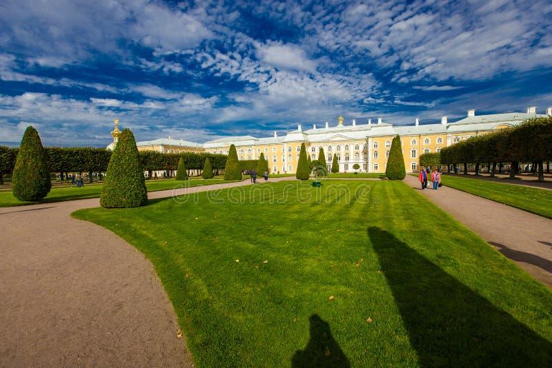 härlig park för höst royaltyfri fotografi