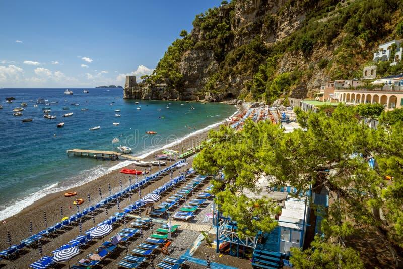 härlig positano amalfi kust italy fotografering för bildbyråer