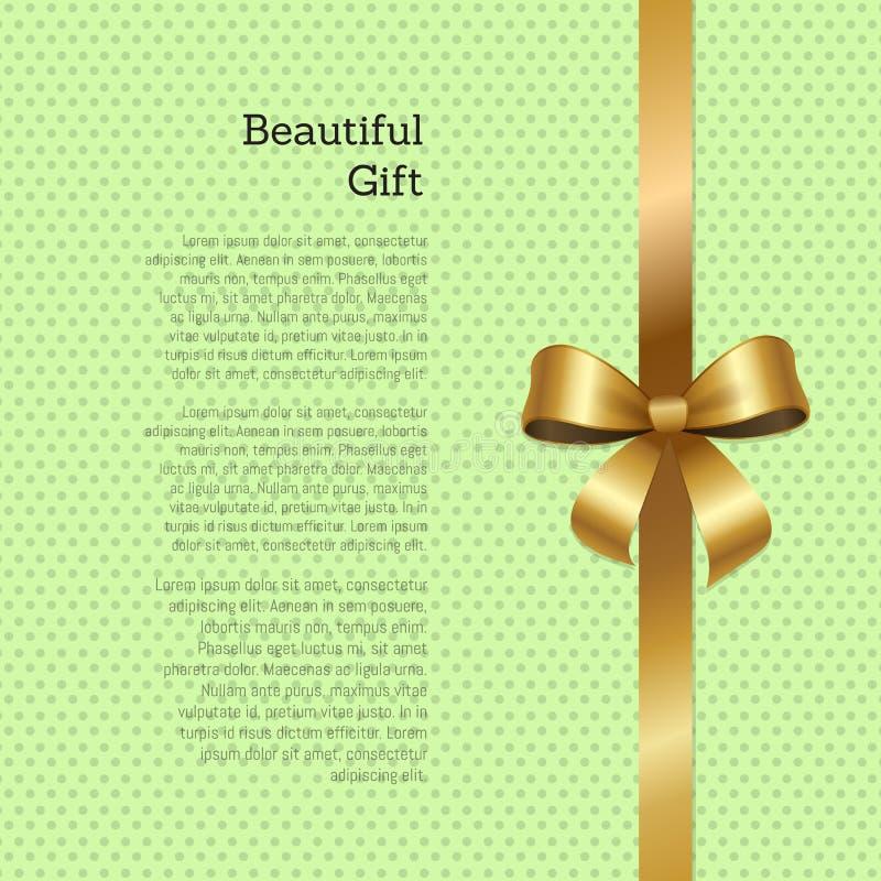 Härlig presentkort- eller hälsningkortdesign stock illustrationer