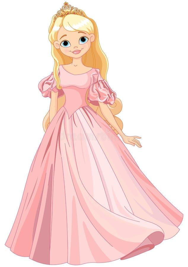 härlig princess stock illustrationer