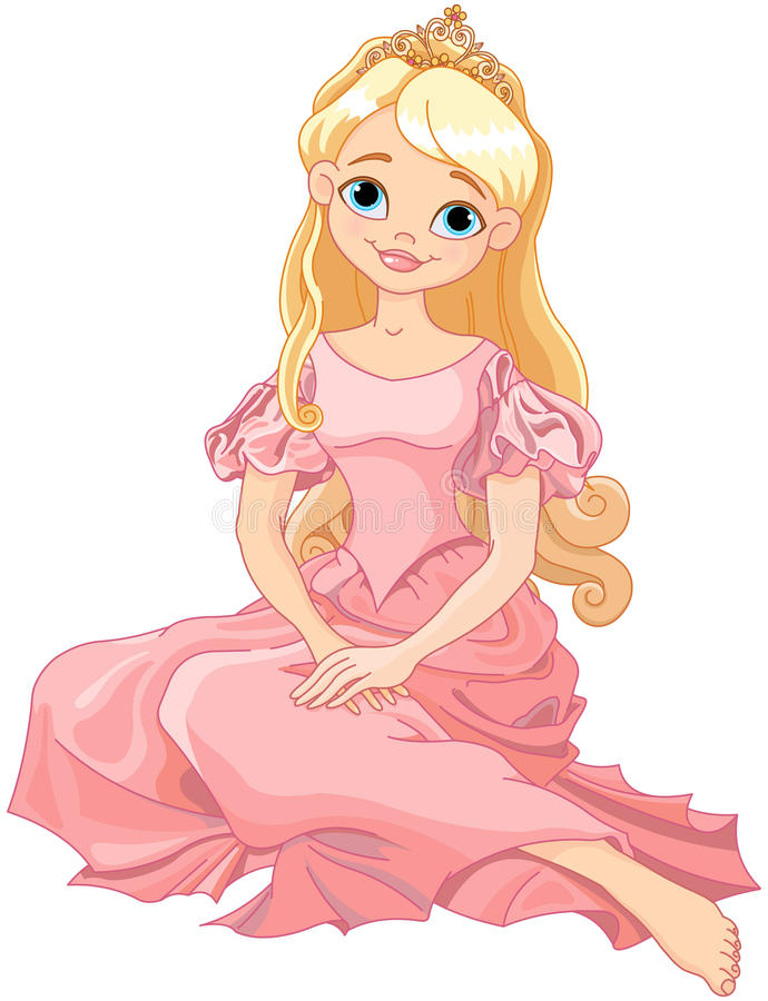 härlig princess vektor illustrationer