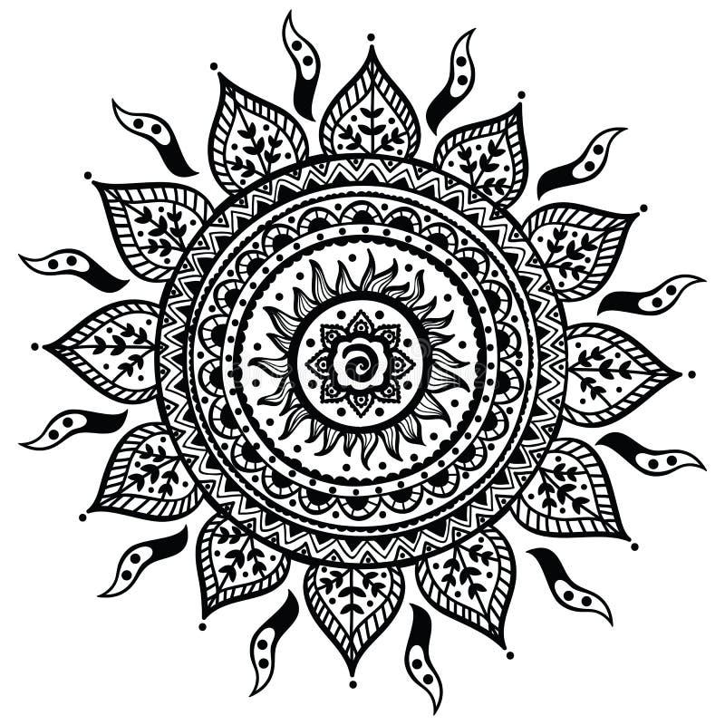 Härlig indisk prydnad vektor illustrationer