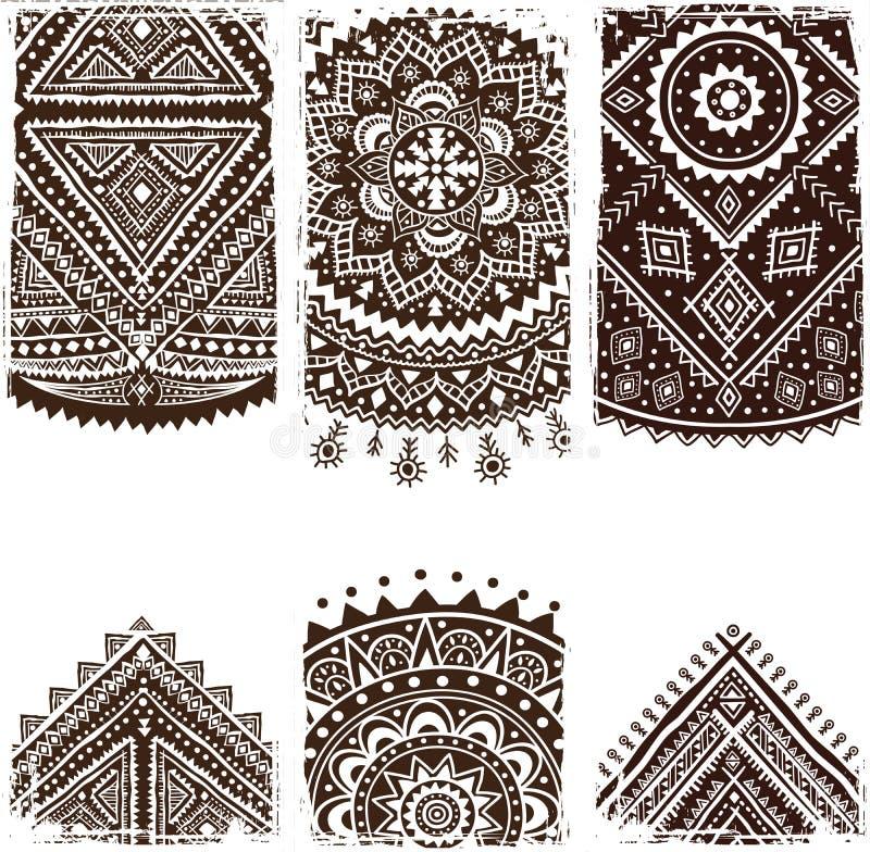 Härlig indisk prydnad stock illustrationer
