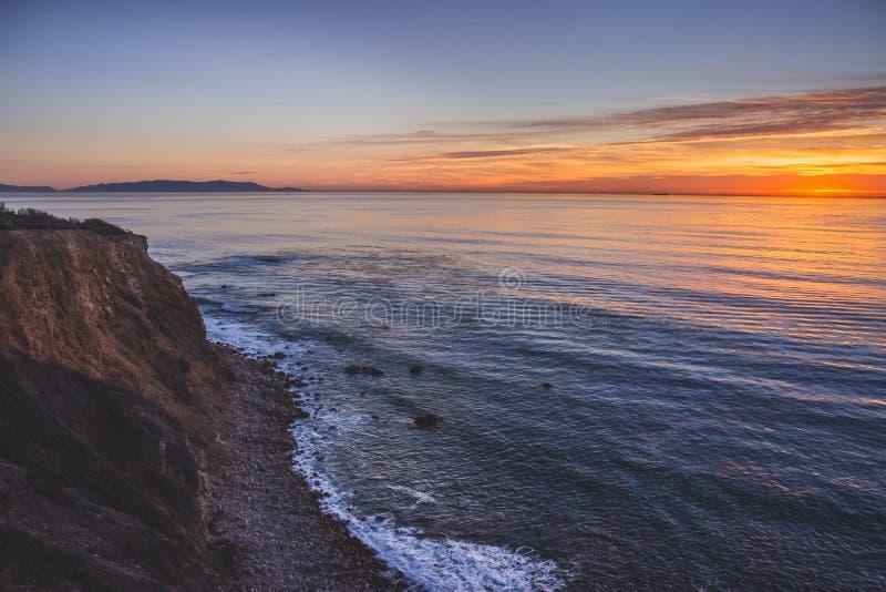 Härlig punkt Vicente Sunset royaltyfria foton