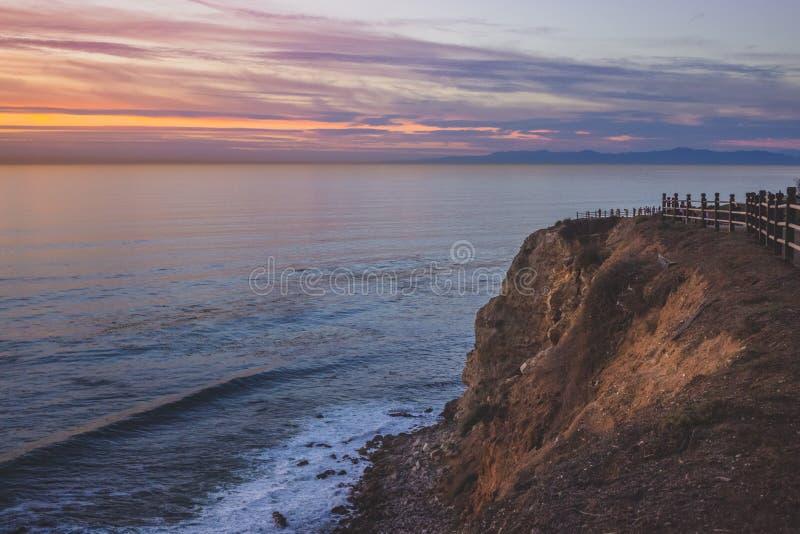 Härlig punkt Vicente Sunset arkivbild