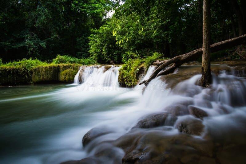 Härlig rörelsevattenfall fotografering för bildbyråer