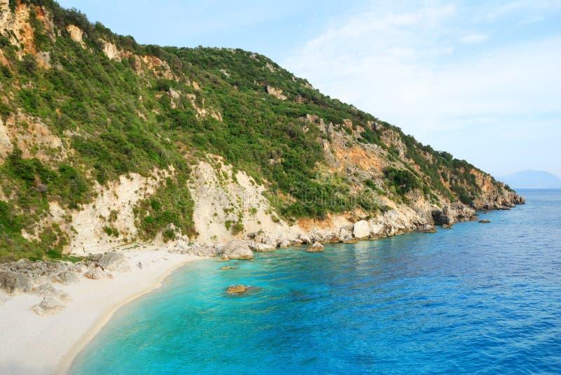 härlig remote för strand royaltyfri bild