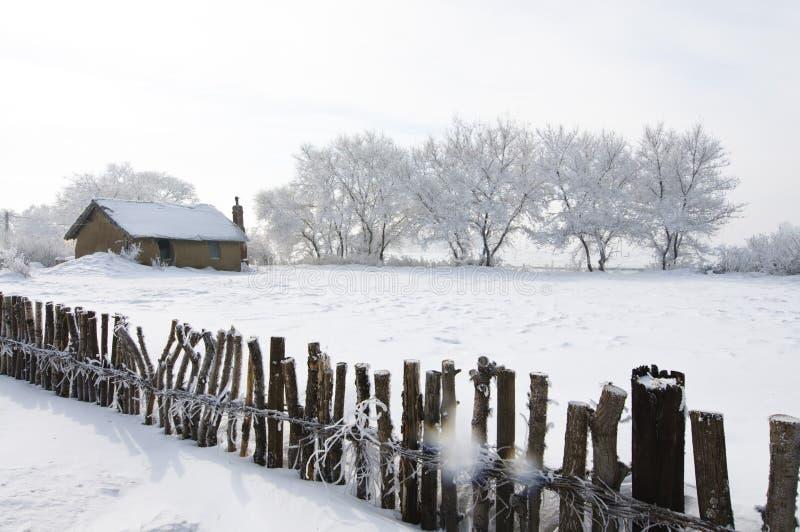 Härlig rime av norden av Kina fotografering för bildbyråer
