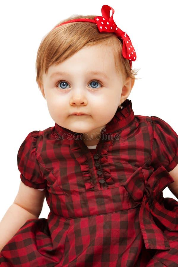 härlig rolig flicka för blåa ögon little arkivfoton