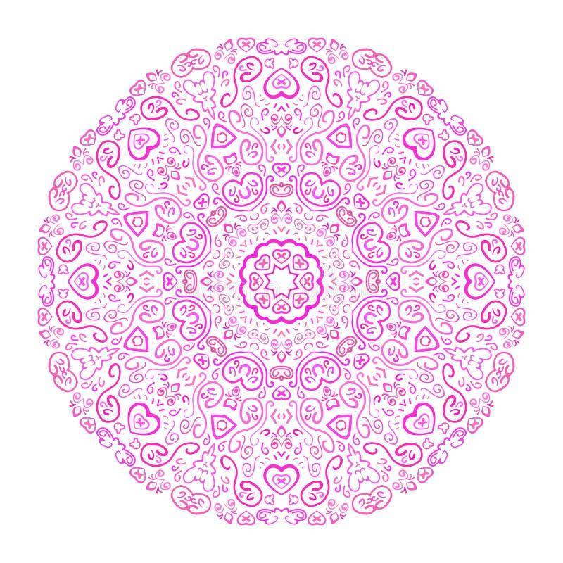 Härlig rosa dekorativ bakgrund stock illustrationer