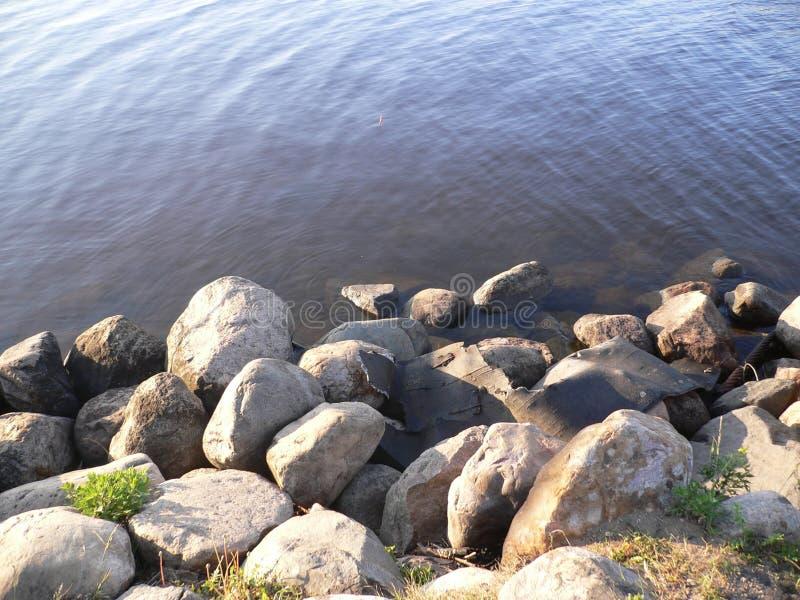Härlig rysk flodkust royaltyfri bild