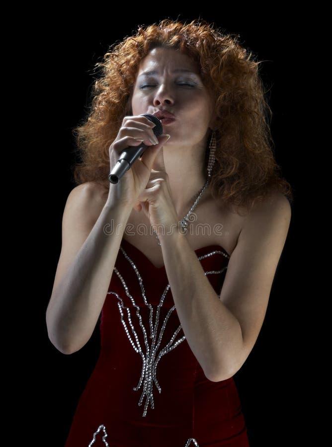härlig sångare royaltyfria foton