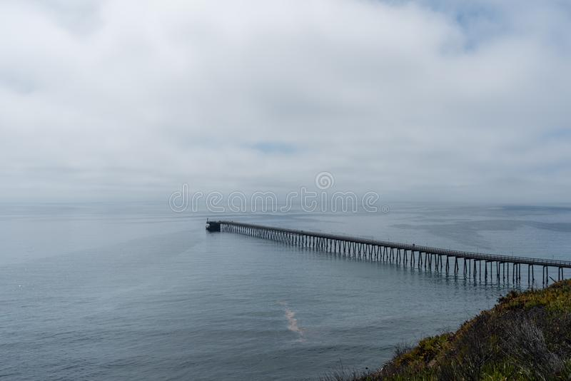 Härlig Santa Barbara utsikt, sydliga Kalifornien royaltyfri foto