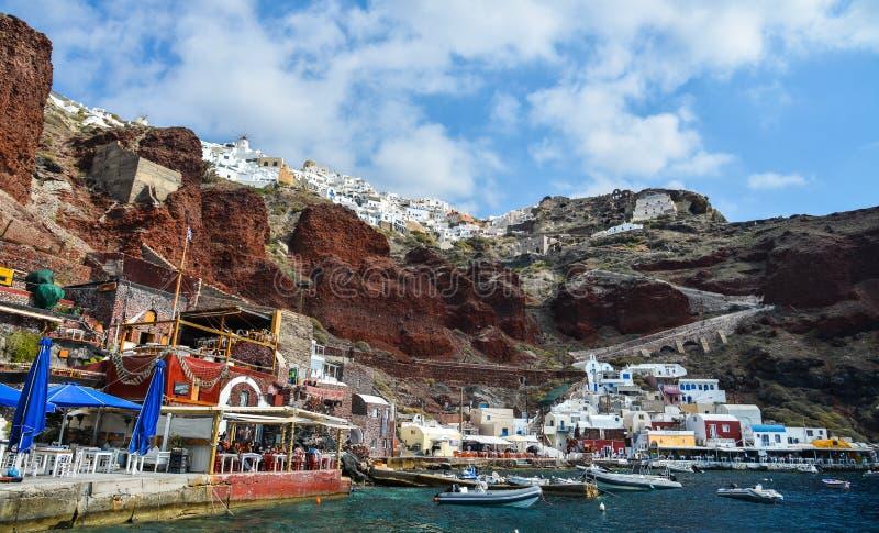 Härlig Santorini ö, Grekland royaltyfri fotografi
