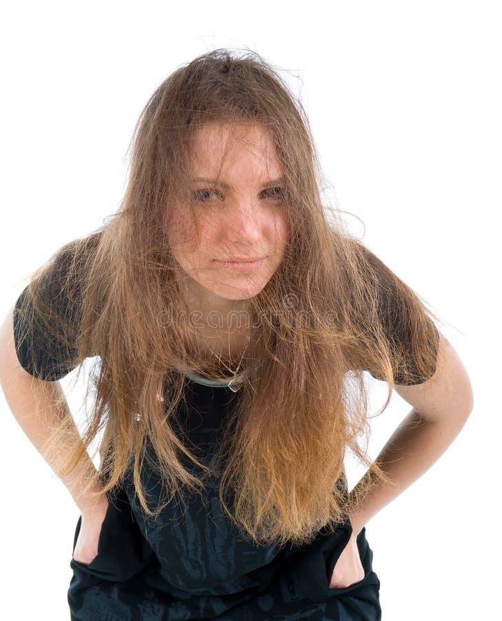härlig sexig brunettflicka royaltyfri foto