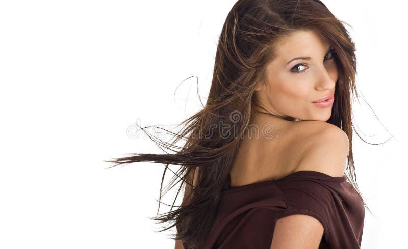 härlig sexig flickastående fotografering för bildbyråer