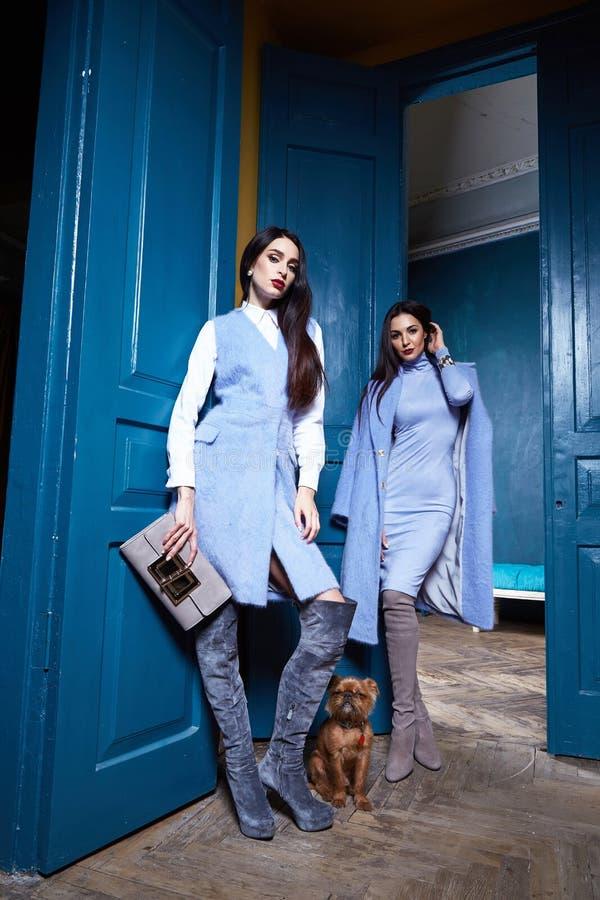 Härlig sexig outerwear för tillfällig stil för kvinnadamkläder royaltyfria bilder