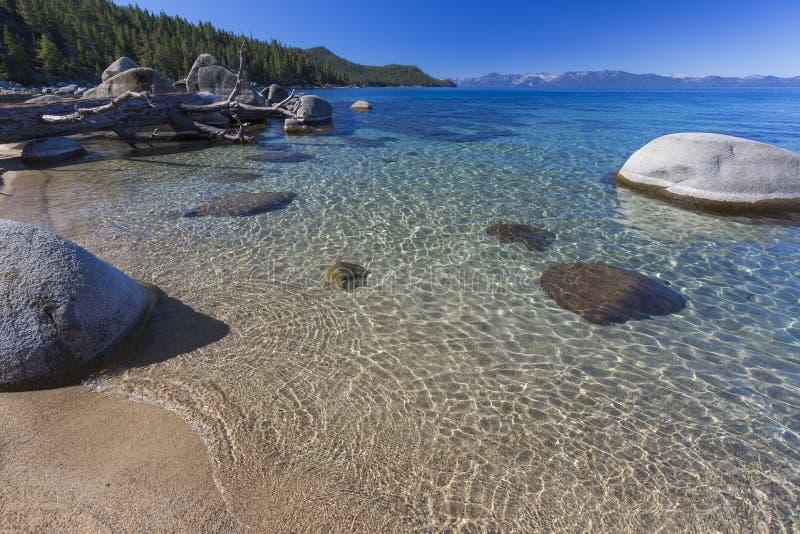 Härlig Shoreline av Lake Tahoe fotografering för bildbyråer