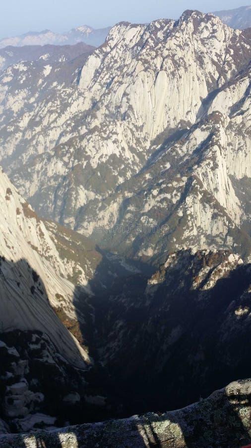 H?rlig sikt av det Huashan bergmaximumet fotografering för bildbyråer