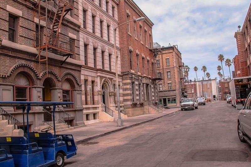 Härlig sikt av en av studieintresserade av Paramount Pictures USA angeles los royaltyfri fotografi