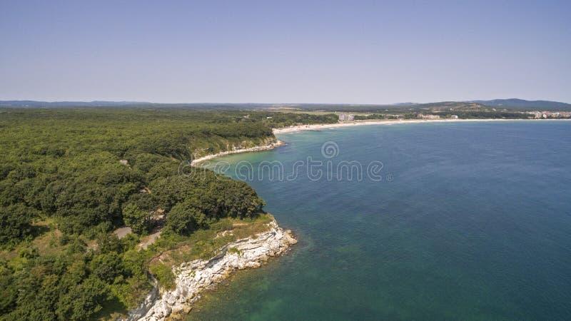 Härlig sikt av kustlinjen av Blacket Sea från över royaltyfria foton