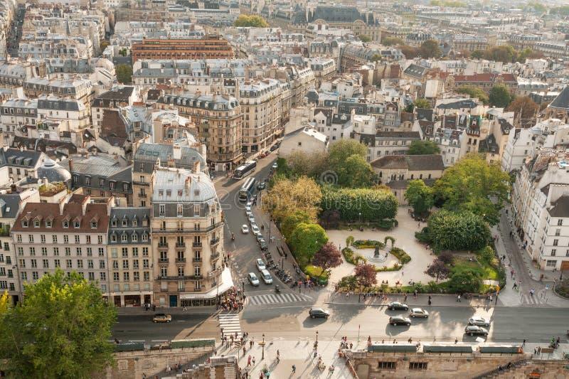 Härlig sikt av Paris royaltyfria foton