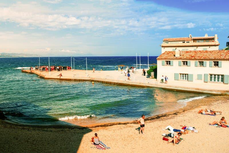 Härlig sikt av Saint Tropez, Frankrike arkivfoton