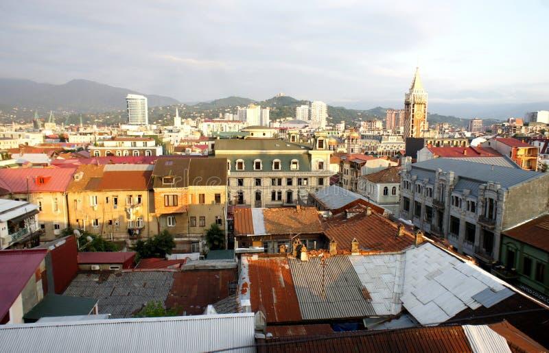 Härlig sikt av staden av Batumi arkivfoto