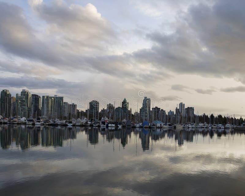 Härlig sikt av Vancouver horisont royaltyfri foto
